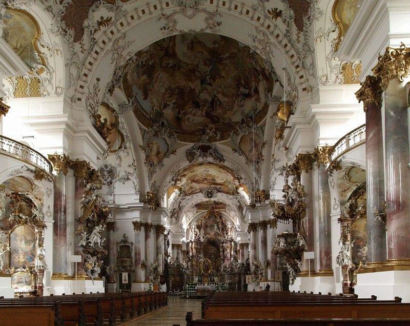 Baroque church at Zwiefalten