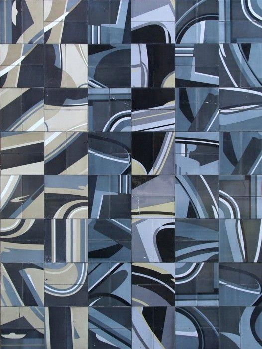 glazed tiles panel