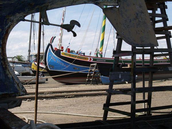 boat in a shipyard