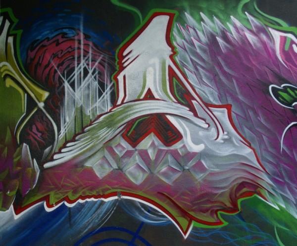 Graffiti on a Lisbon wall