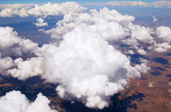 clouds as seen from a plane