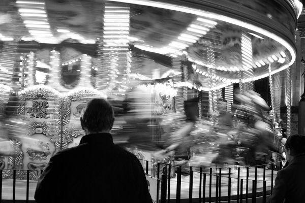 merry-go-round in Christmas Market, Birminghaam