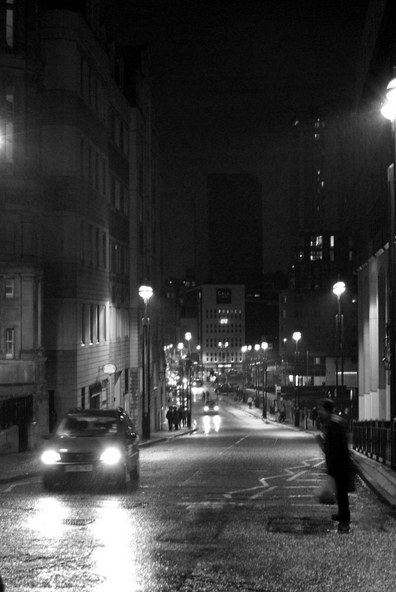 night street in Birmingham
