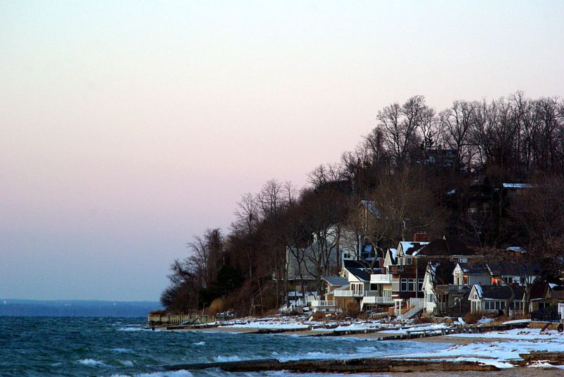 Eatons Neck at the time of sunset