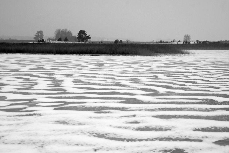 snow pattern on ice