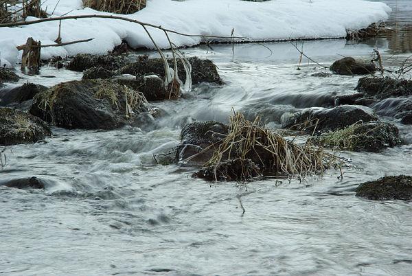 Water running