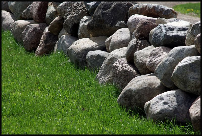 stones and grass
