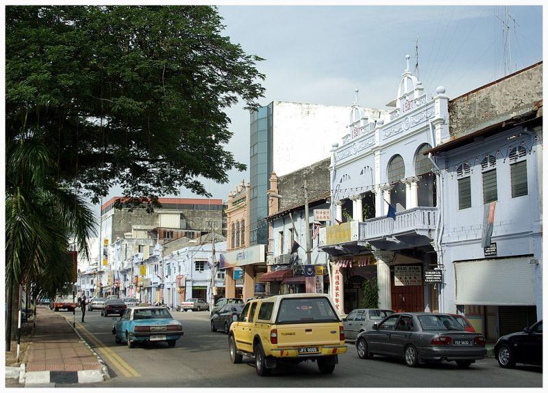 street life in Muar, Malaysia