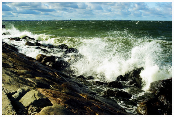 stormy Baltic Sea waters
