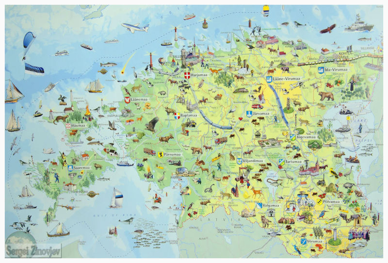 map of the Estonia