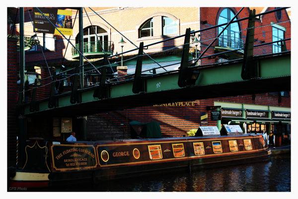 Boat in the old town of Bimingham, UK.
