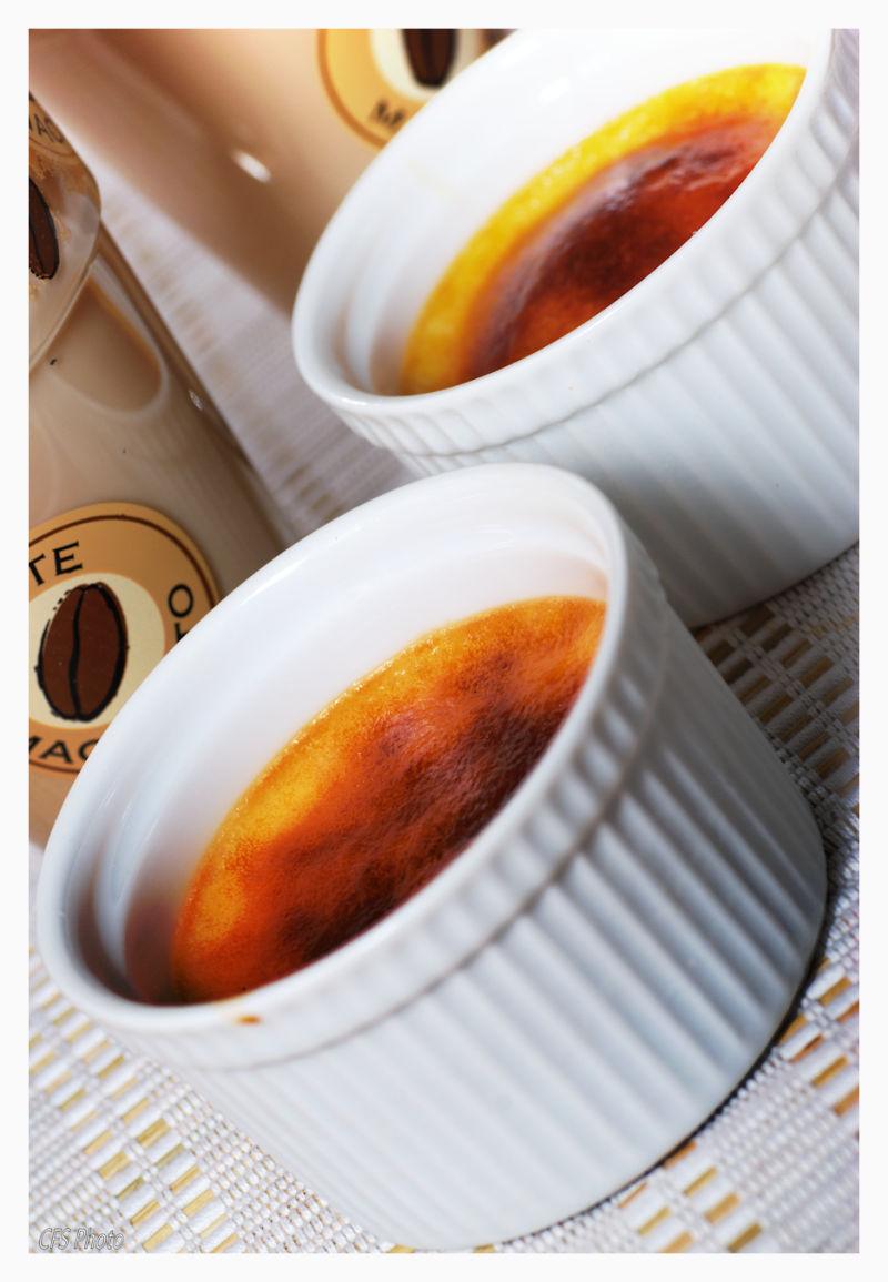 Creme Catalana and coffee