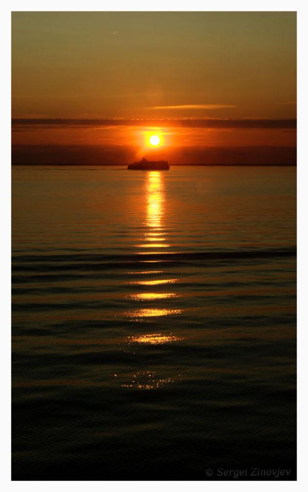 Baltic sea at sunset