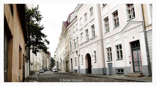 street of Old Town in Tallinn, Estonia