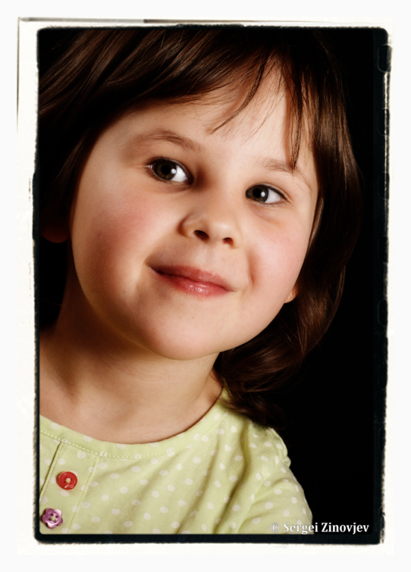 portrait of cute little girl