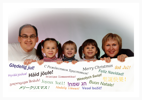 Christmas greeting from family