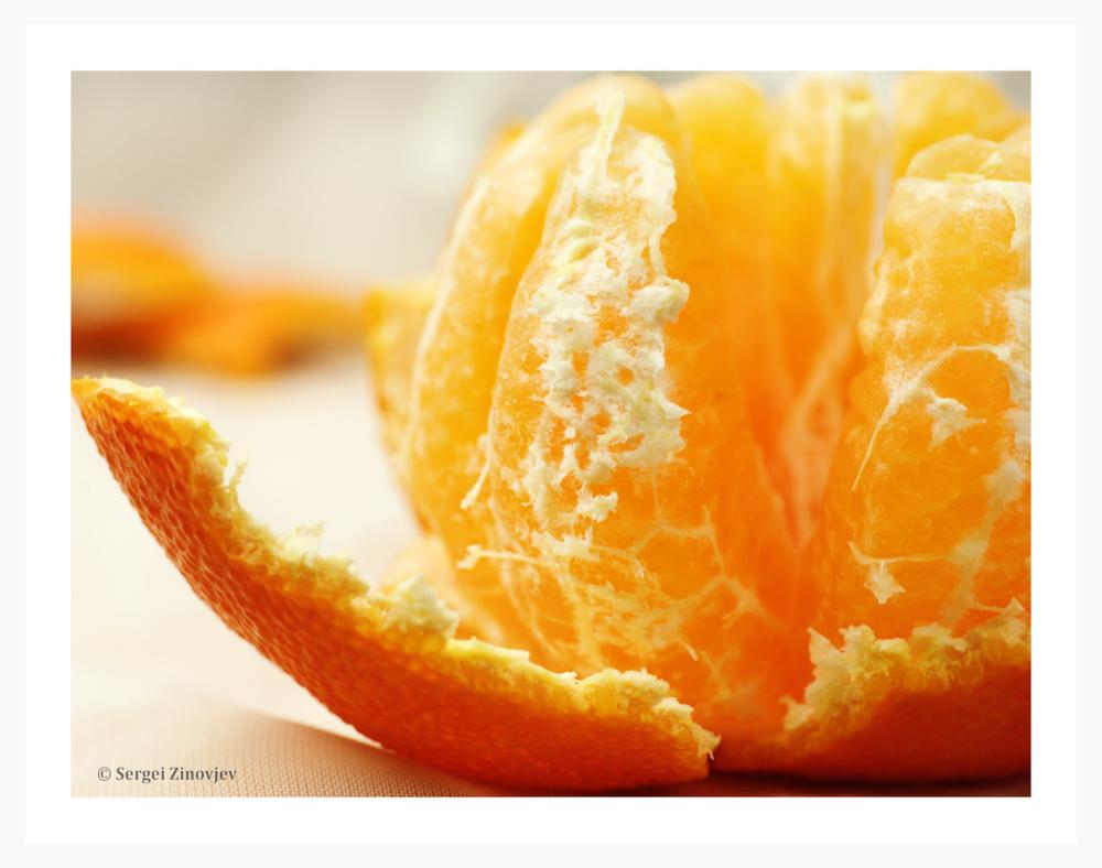 close-up of mandarin