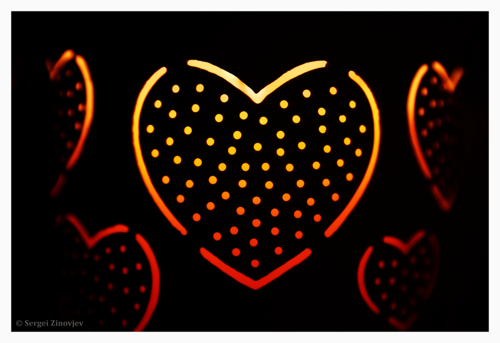 close-up of hearts