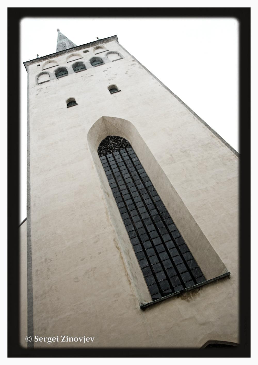view of Oleviste Church in Tallinn