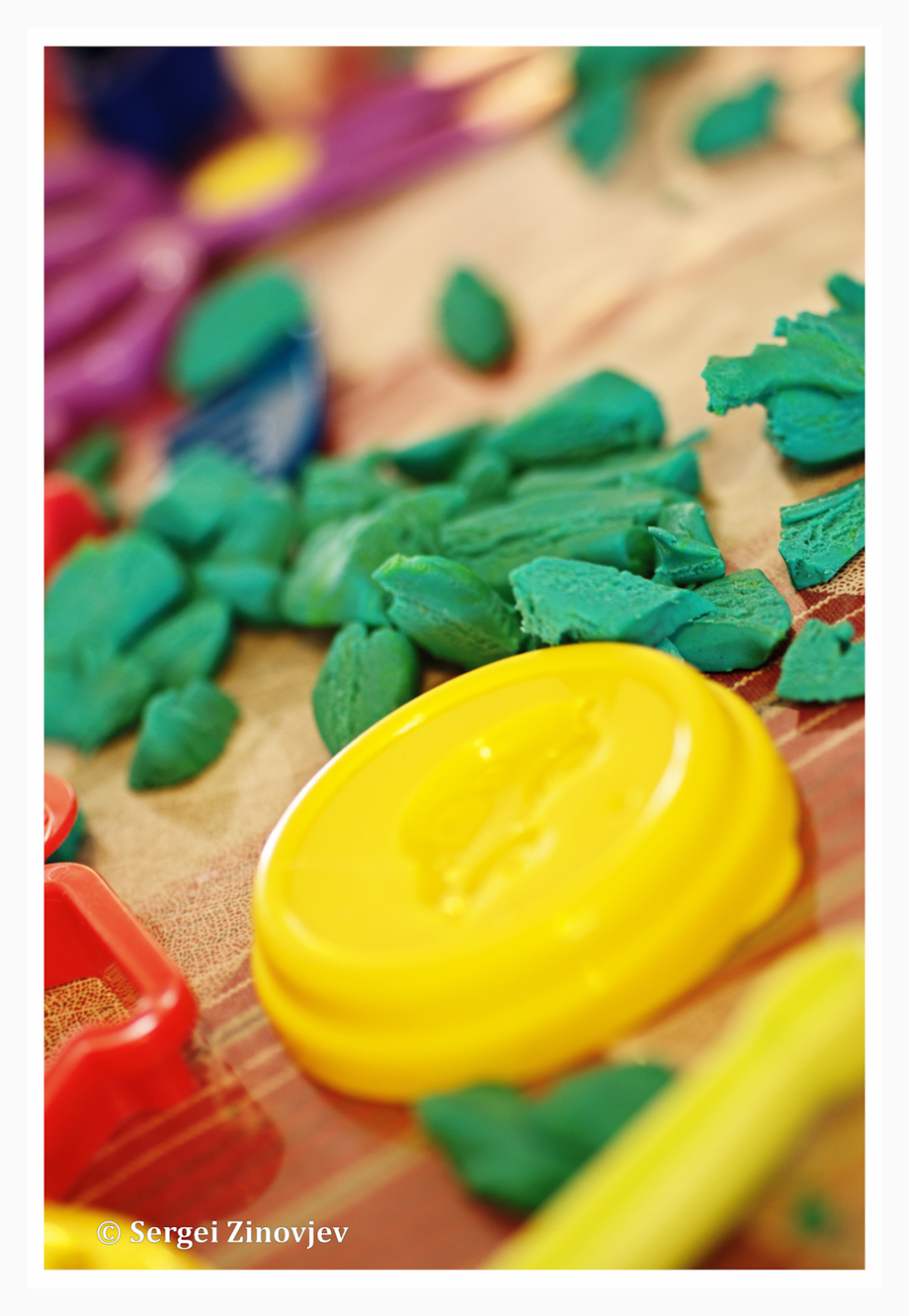 close-up of plasticine