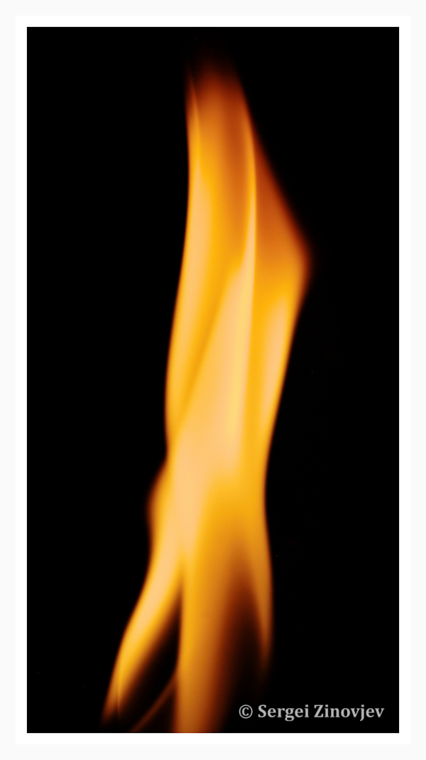 close-up of flame