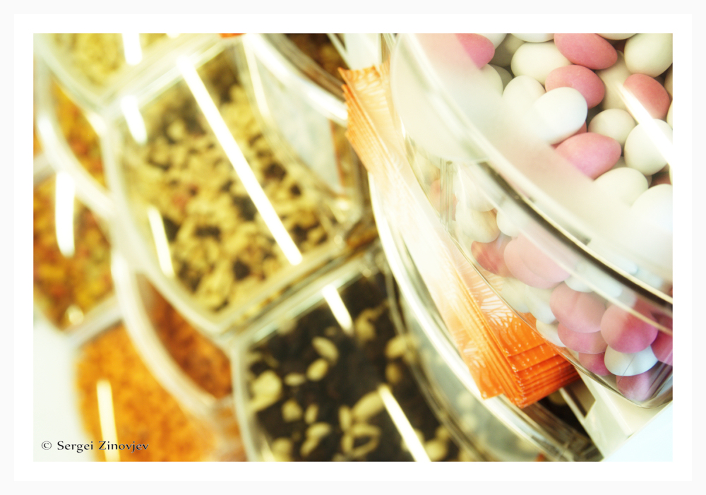 different candies in different colors