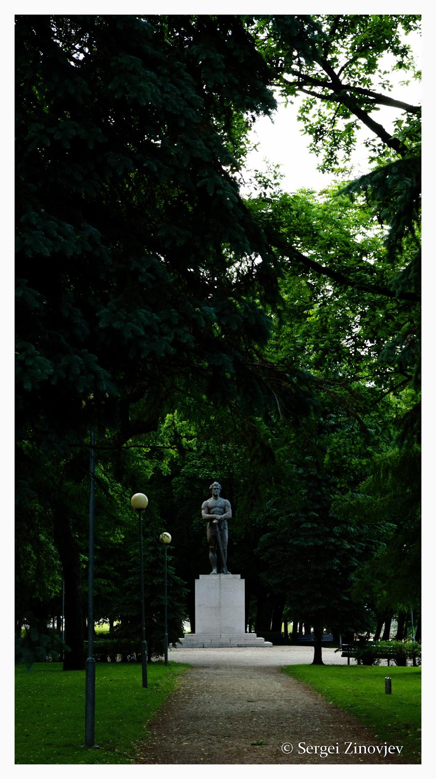 park statue in Tartu
