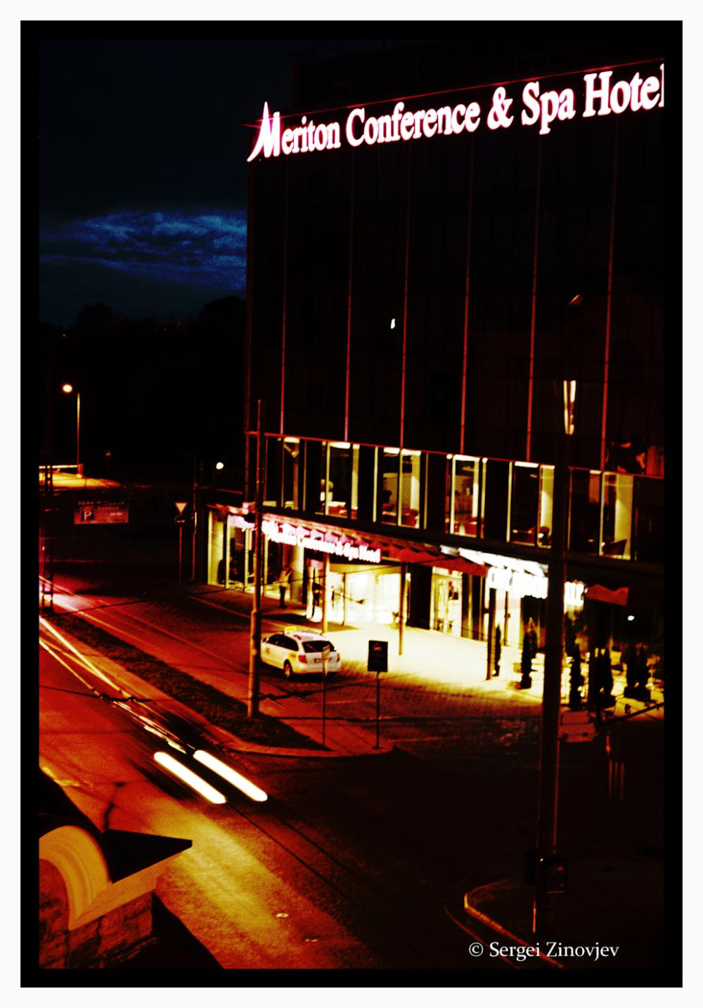 hotel in Tallinn at night