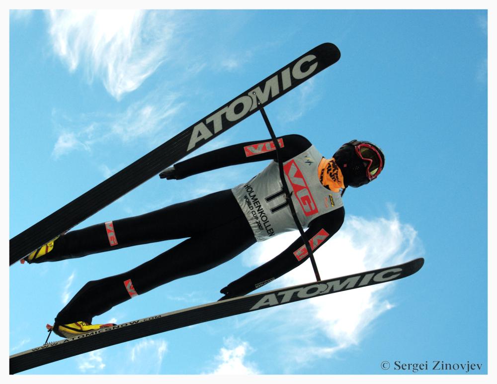 ski jumper in holmenkollen, oslo