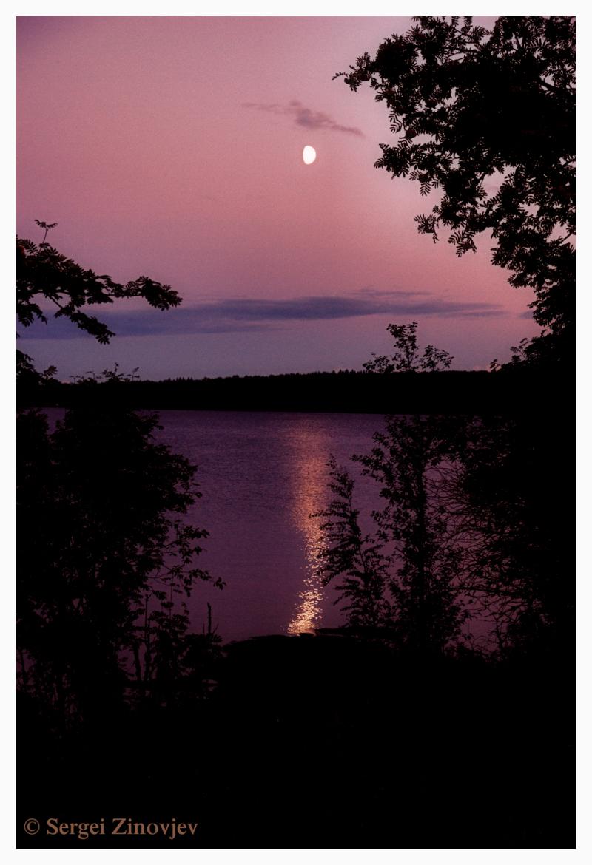 moon on lake water