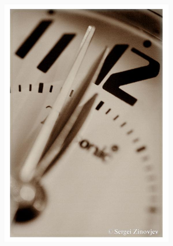close-up of clock arrows