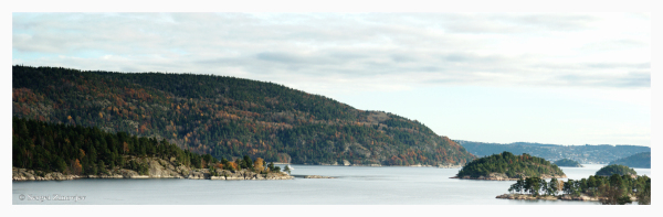 autumn in Oslofjorden, Norway