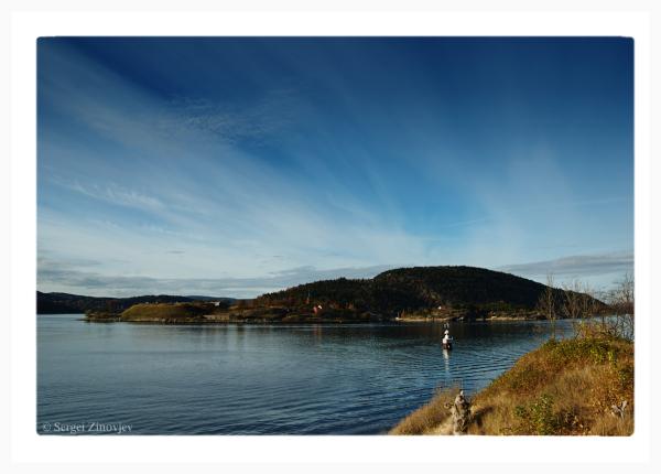 view at Oslofjord, Norway