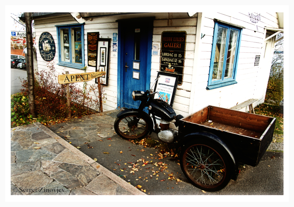 small art shop-gallery in Norway