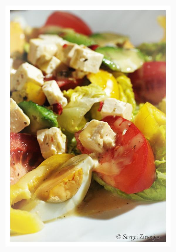 fresh salad on the plate