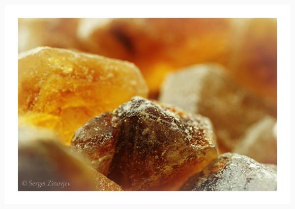 macro of brown sugar