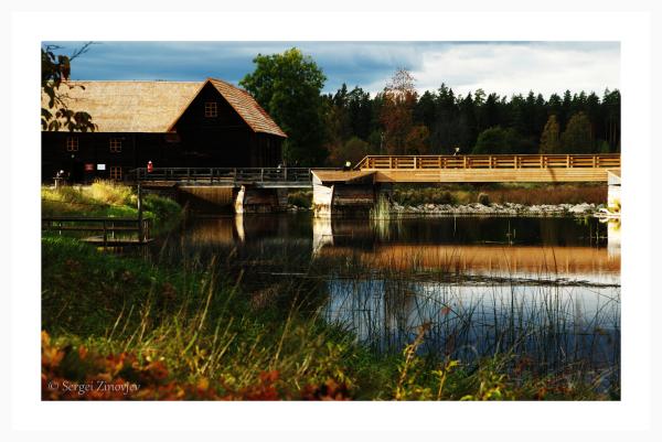 River and old mill in Kurgja, Estonia