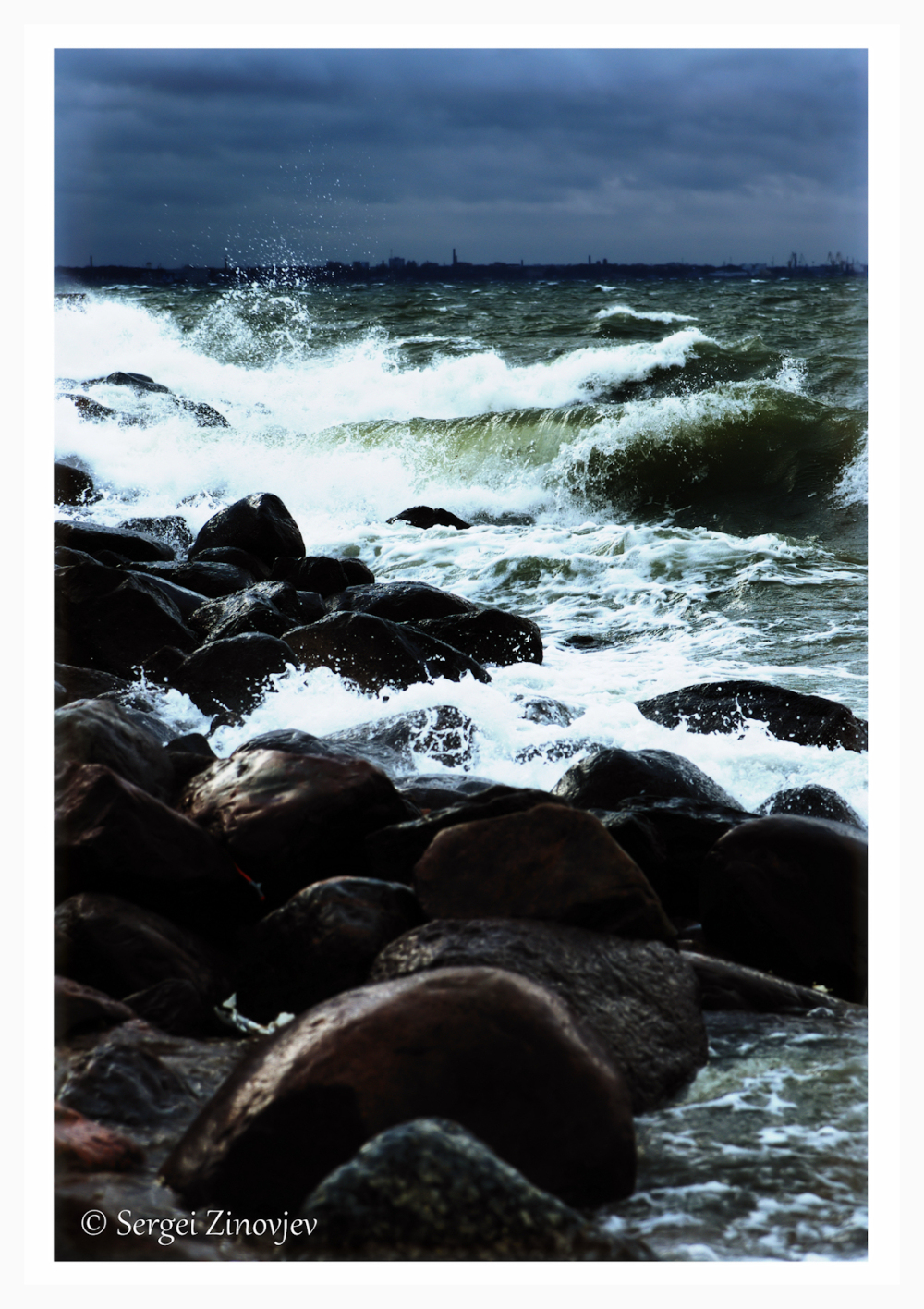 Stormy waters of Baltic Sea