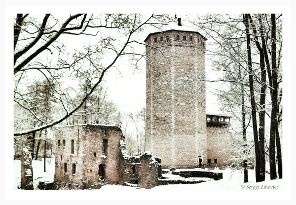 ruins of old castle in Paide, Estonia