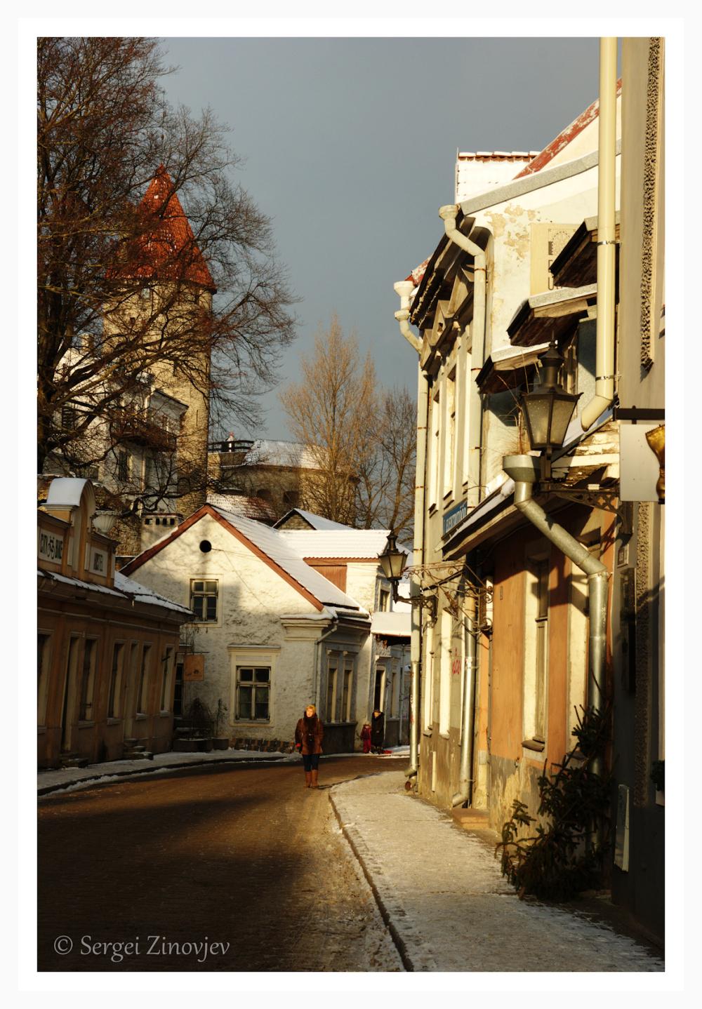 Uus street in Tallinn Old Town