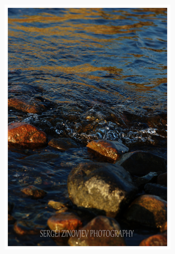 stones in waters of Baltic Sea