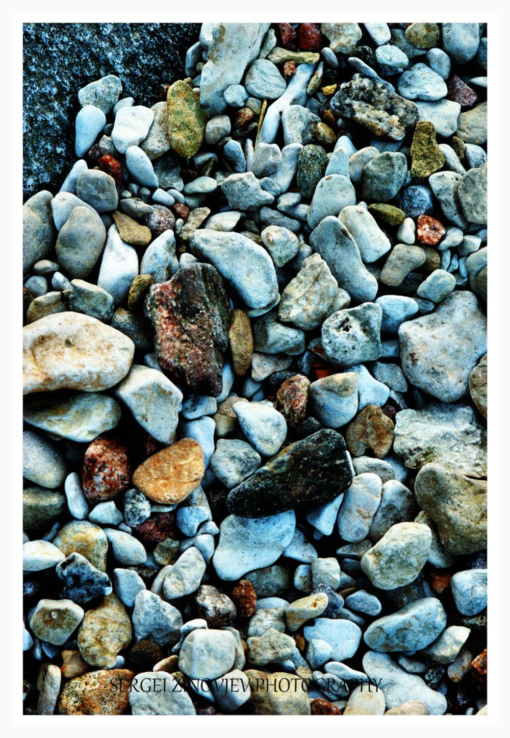 different small stones of Baltic Sea Shore