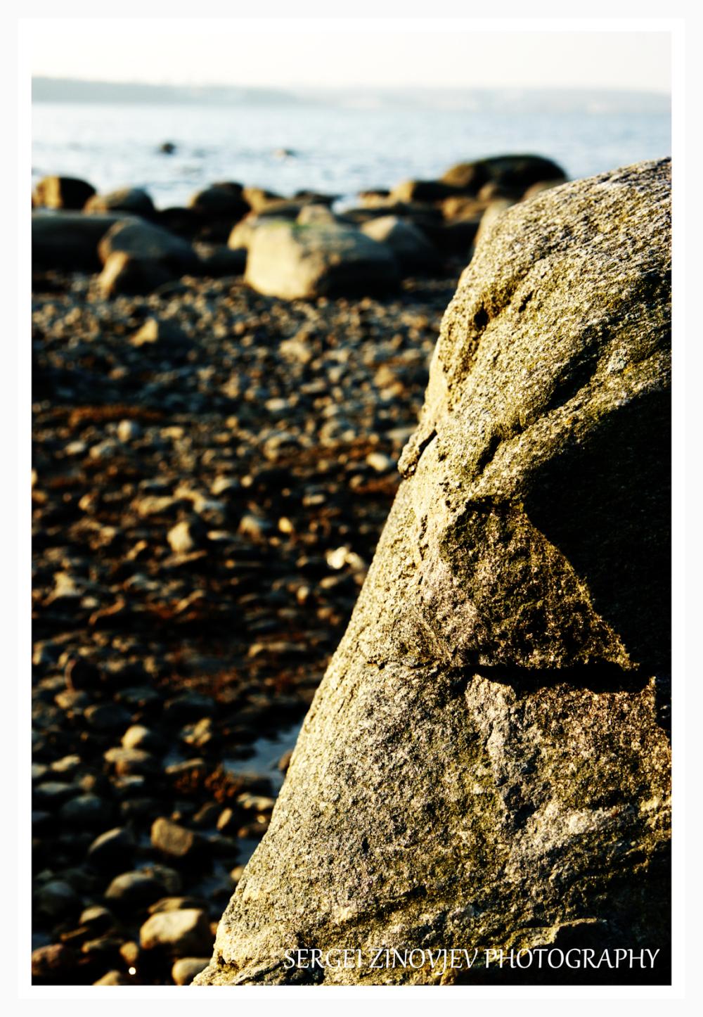 stony coast of Baltic Sea