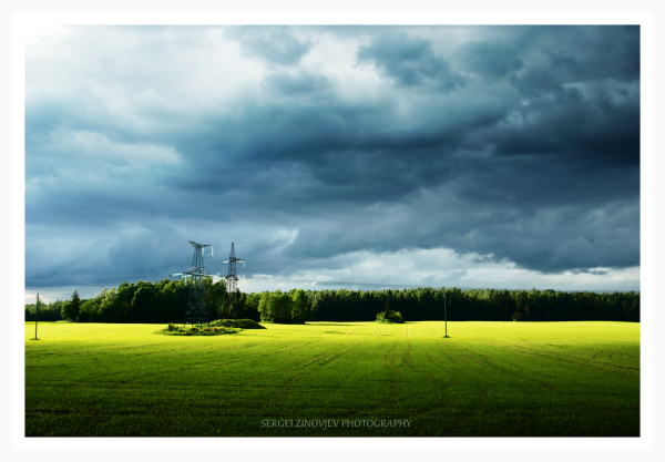 Estonian landscape - fields and forest