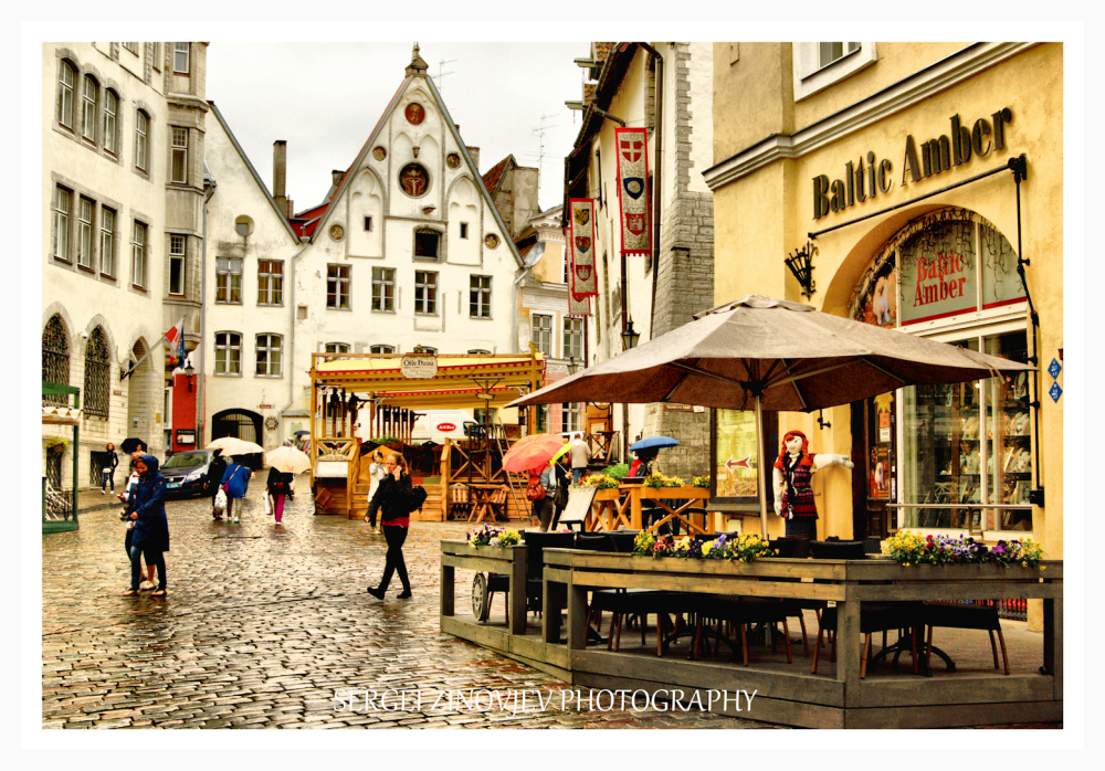 streets of Old Town in Tallinn, Estonia
