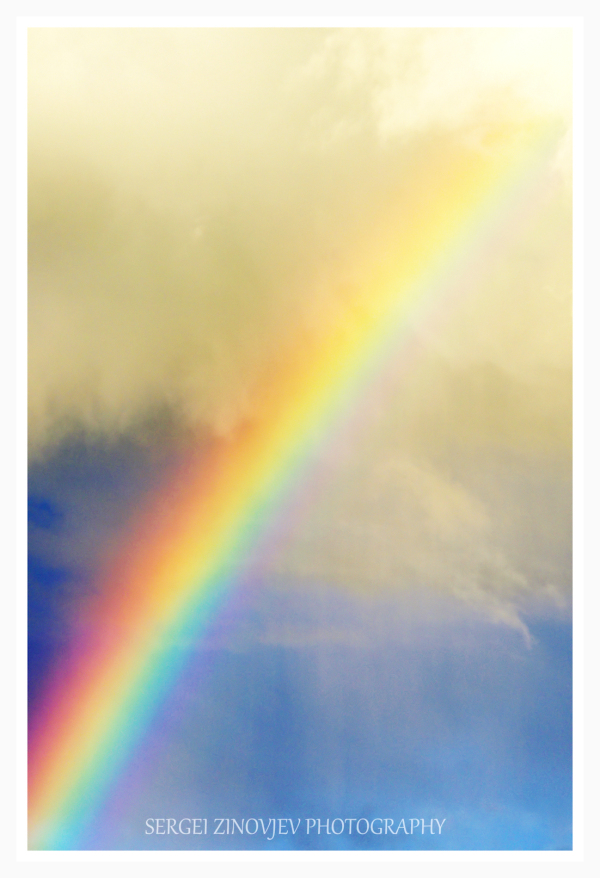 real rainbow in the sky