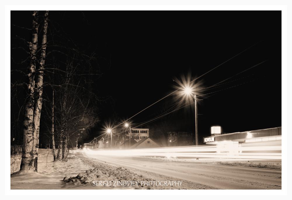 Türi town at night