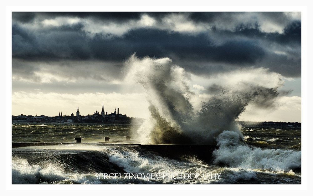 storm on Baltic Sea