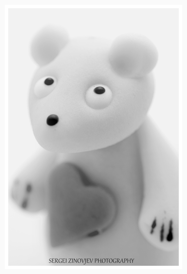 close-up of marzipan bear