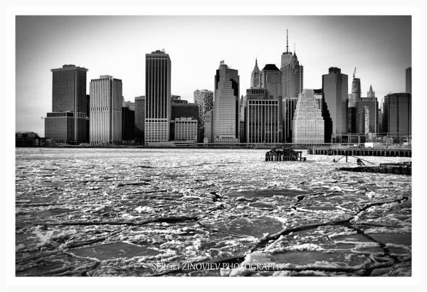 view of winter Manhattan